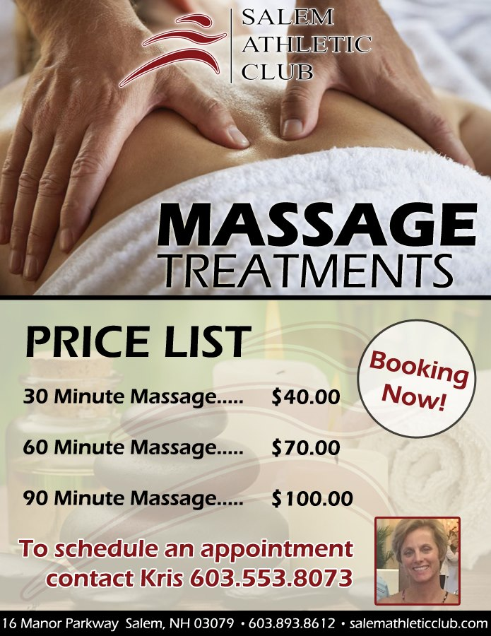 Massage Treatments Salem Athletic Club
