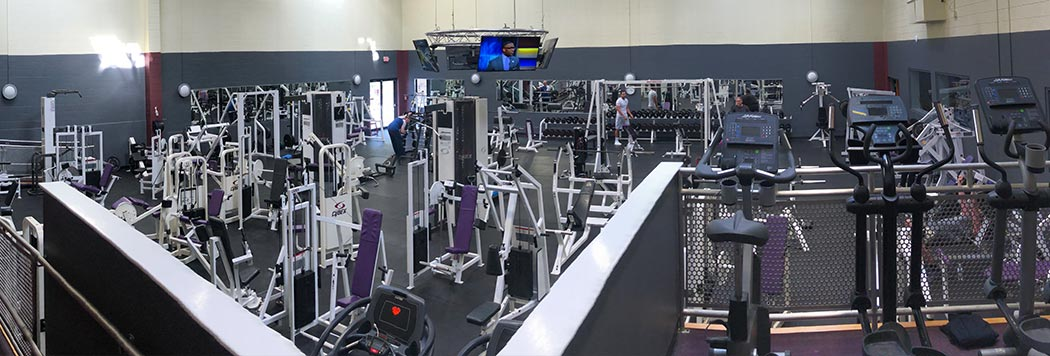 Downstairs weight room